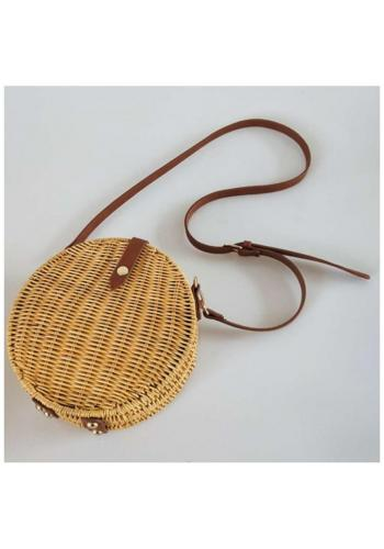Čierna okrúhla kabelka s retiazkou pre dámy