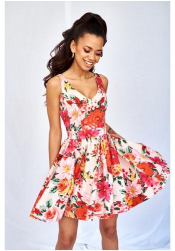 cce9debc374a Štýlové MINI šaty na ramienka s tulipánovou sukňou v bielo-modrých pásoch  pre dámy ...
