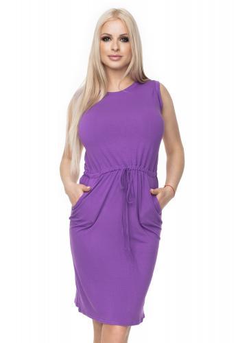 390d71cdc6f5 Cappuccinové mini šaty s viazaním v páse pre dámy ...