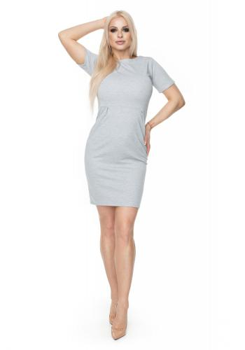 26777a337320 ... Štýlové šaty klasického strihu s krátkym rukávom v modrozelenej farbe  pre dámy