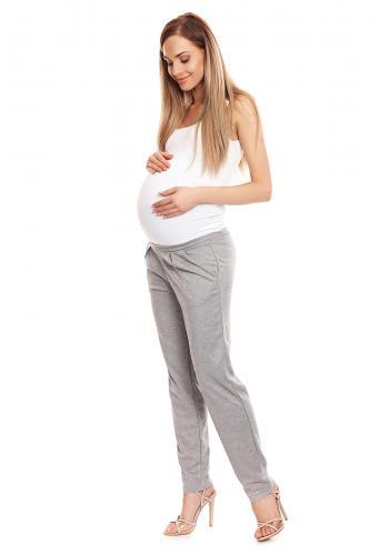 Čierne nohavice cigaretového strihu so zvýšeným pásom pre tehotné