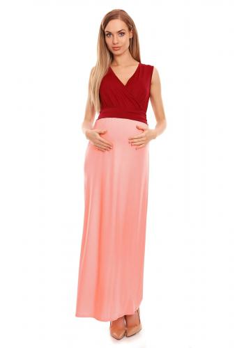 Svetlosivé nohavice so zvýšeným pásom a mašľou pre tehotné
