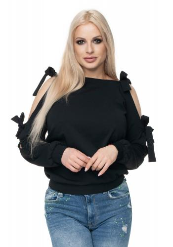 Neónovo korálový sveter s jemnou väzbou pre dámy