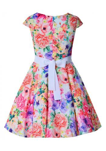 7689a0240cab Dievčenské šaty s farebnou potlačou Dievčenské šaty s farebnou potlačou