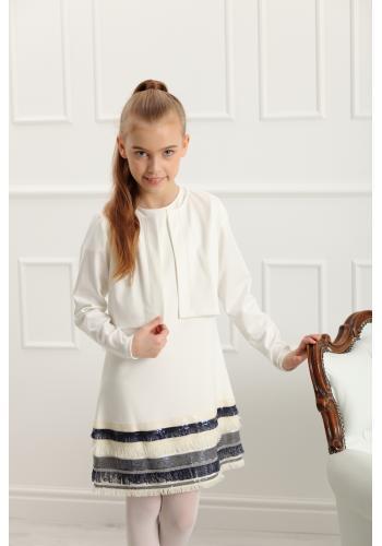 Dievčenské elegantné bolerko v bielej farbe