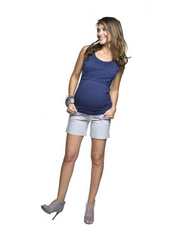 Tehotenská blúzka čiernej farby bez rukávov