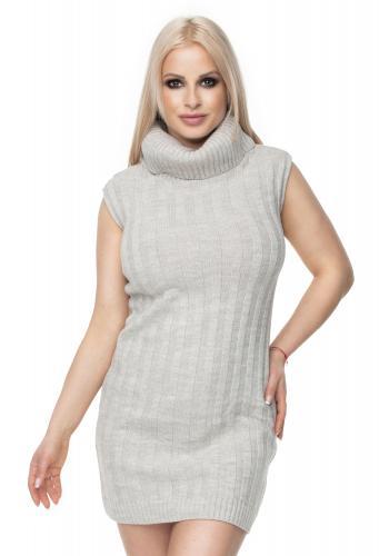 4cb01543edfd Dámsky krátky sveter s béžovými pásmi - farebný ...