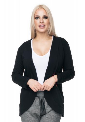 Dámske bavlnené sako s 3/4 rukávom v sivej farbe