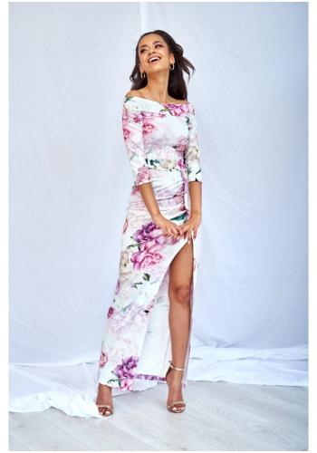 9fd14063c920 Štýlové mini šaty v béžovej farbe s ornamentom pre dámy ...