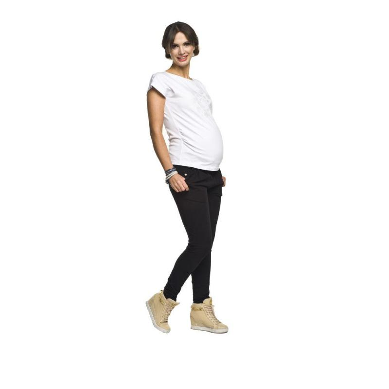 d76e90f503 Čierne tehotenské nohavice pre mamičky. Novinka. Svetlomodré tehotenské  rifle s elastickým pásom pre mamičky