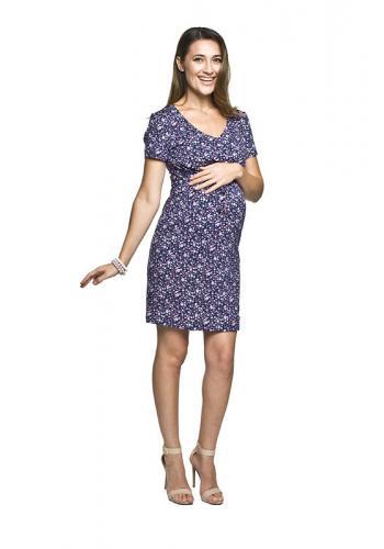 3ad4f0f54a8f Bielo-ružové dlhé tehotenské šaty s kvetmi pre mamičky ...