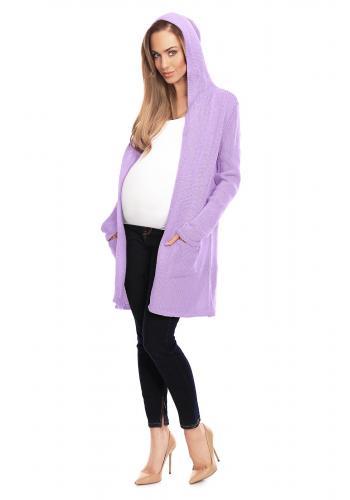 Čierna vypasovaná tunika pre tehotné