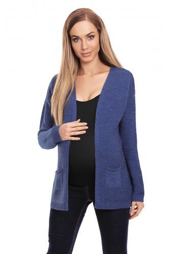 Tehotenský sveter v strihu kimono v mätovej farbe