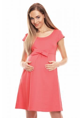 Žlté elegantné šaty s čipkou pre tehotné