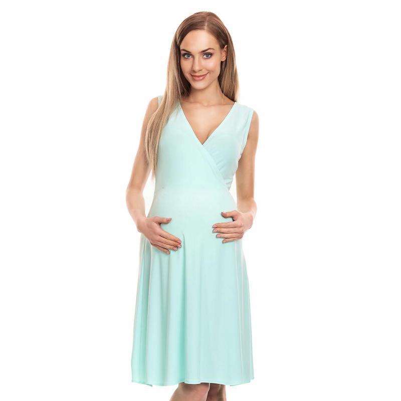 2b88543417 Mätové tehotenské letné šaty bez rukávu s výstrihom - premamku.sk