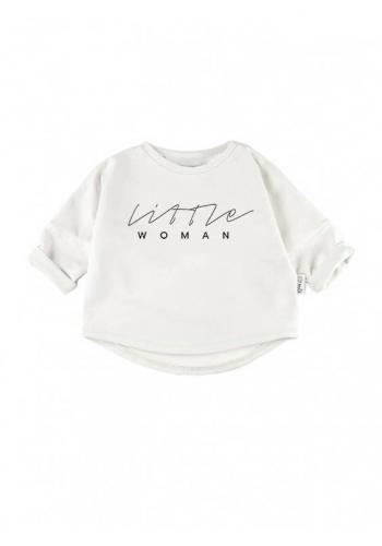 Zostava mikín pre mamu a dieťa s nápisom LA PRINCESSE v bielej farbe