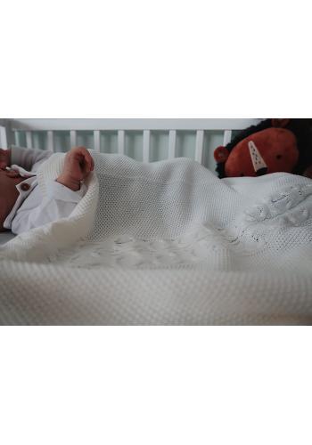 Mäkká bavlnená deka - krémová