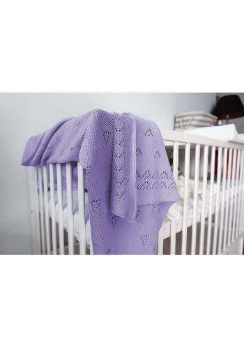 Fialová pletená deka