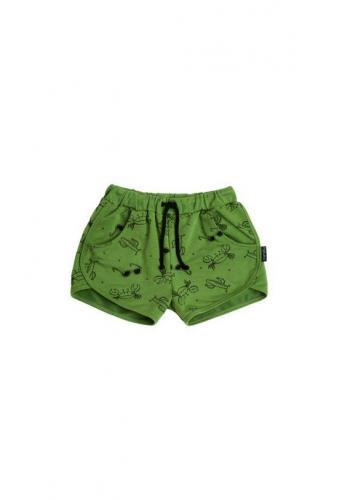 Zelené krátke kraťasy s potlačou leta pre deti