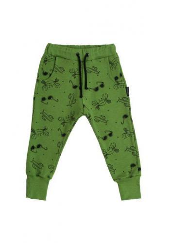 Zelené tepláky s potlačou leta pre deti