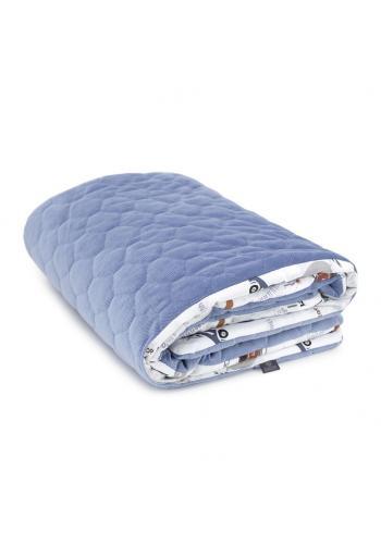 Zamatová deka na leto pre deti - autá/svetlo modrá