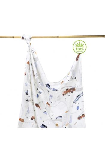 Bambusová deka na leto - autá