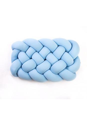 Vankúš uzlík na sedenie v baby blue farbe
