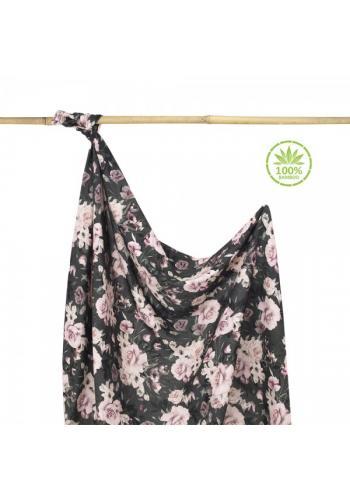 Bambusová deka na leto - nočné kvety