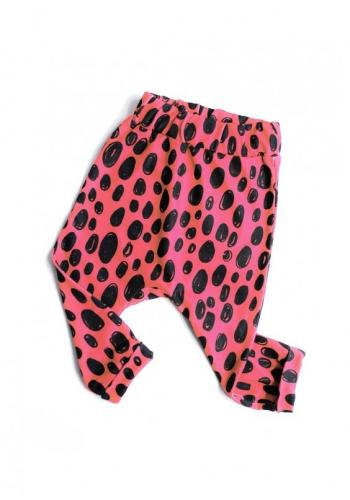 Dievčenská tepláková súprava s potlačou leoparda v ružovej farbe