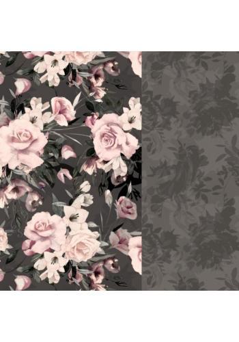 Detská obliečka na posteľ - nočné kvety
