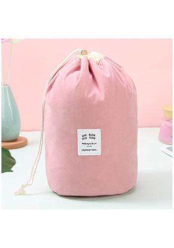Ružové kozmetické vrecko
