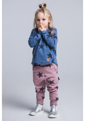 Tmavomodrá mikina s motívom hviezd pre deti