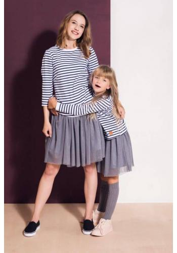 Sivá tylová sukňa pre dámy