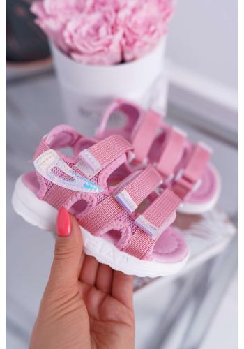 Sandále na suchý zips v ružovej farbe pre dievčatá