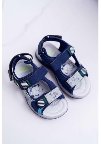 Tmavomodré sandále na suchý zips pre chlapcov