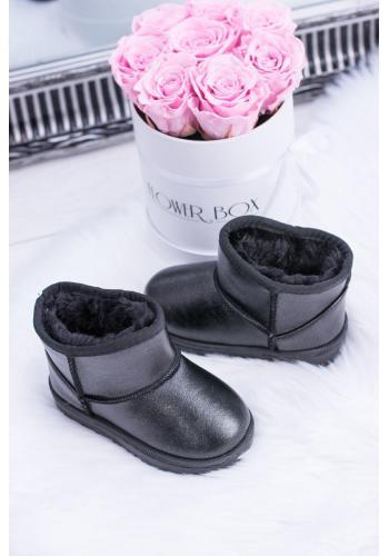 Detské oteplené snehule v čiernej farbe