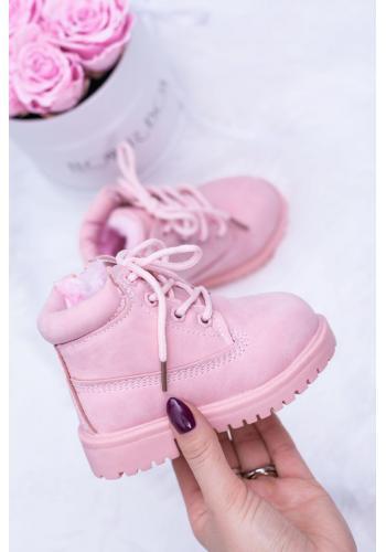 Oteplené detské Workery ružovej farby