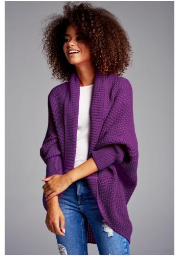 Štýlový kardigán vo fialovej farbe pre dámy