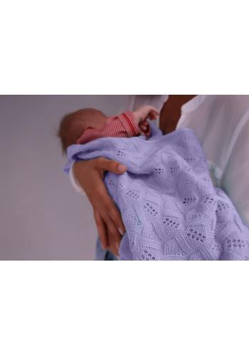 Pletená deka s jemnou väzbou - fialová
