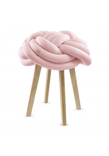 Uzlíkový kryt na stoličku v pastelovo ružovej farbe