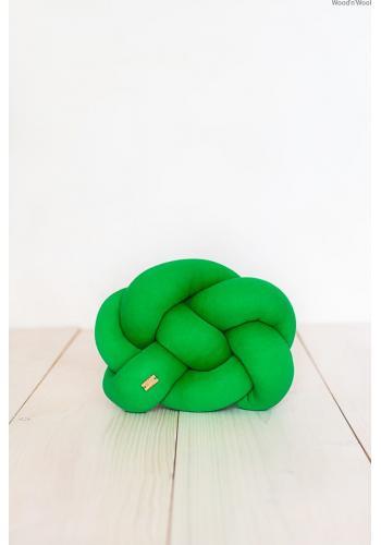 Svetlozelený ozdobný vankúš uzlík