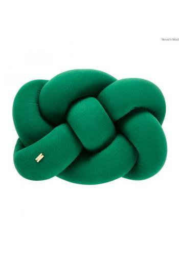 Ozdobný vankúš uzlík v zelenej farbe
