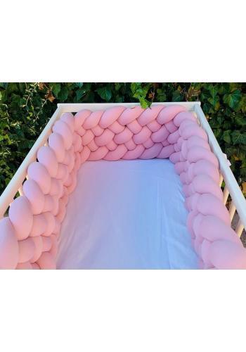 Uzlíkový chránič do postieľky v ružovej farbe