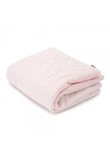 Teplá zamatová deka pre deti - nočné kvety/svetlo ružová