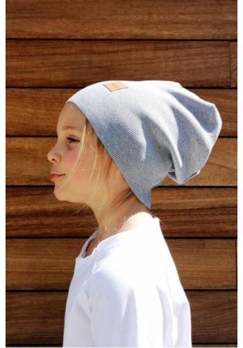 Svetlo sivá čiapka s logom pre deti