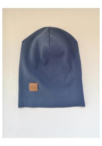 Detská čiapka s logom v tmavomodrej farbe