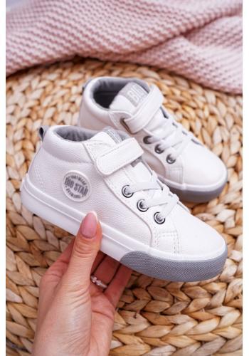 Detské módne tenisky Big Star v bielej farbe