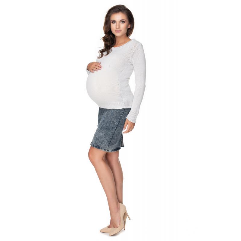 Krémový klasický sveter pre dámy