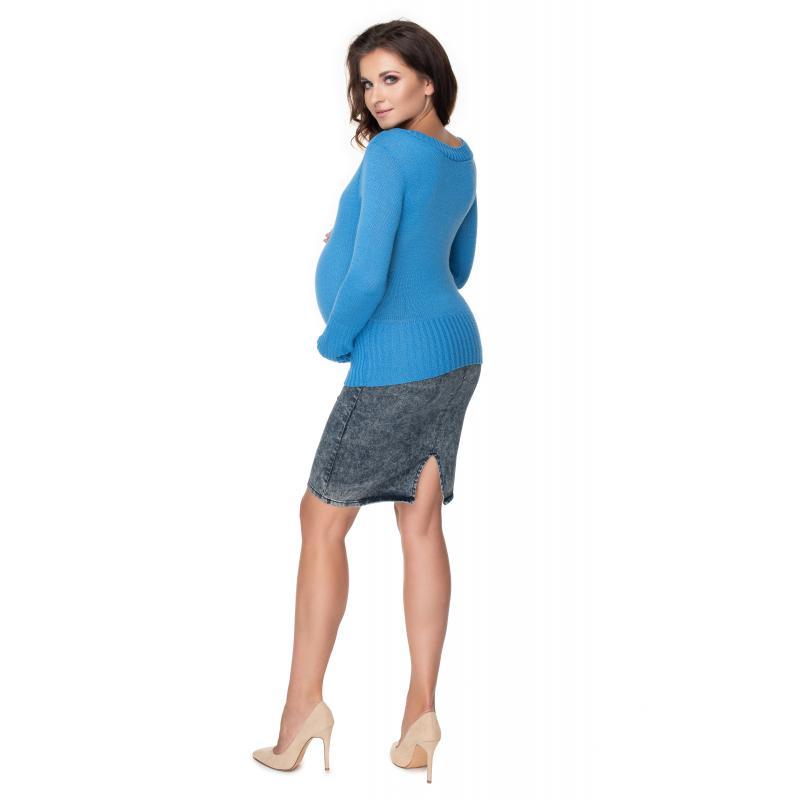 Svetlo modrý klasický sveter pre dámy