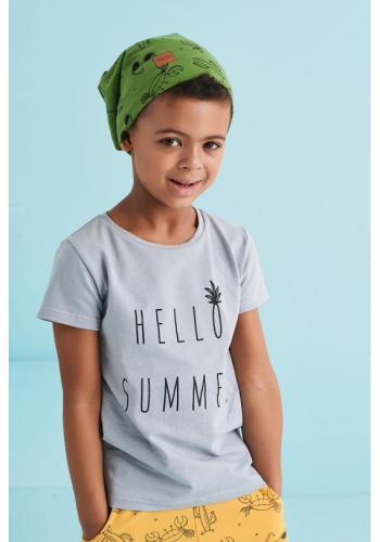Detská čiapka s potlačou leta v zelenej farbe